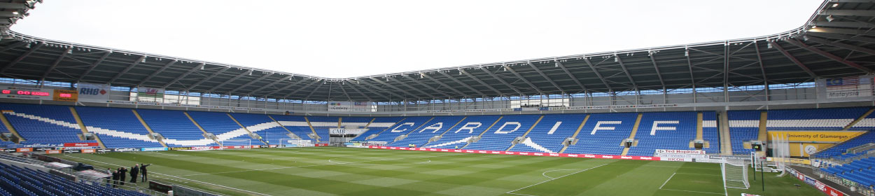Cardiff City Stadium where Cardiff City play football in the Championship