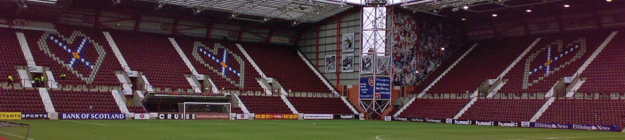 stadium where Heart of Midlothian play football in the Scottish Premier League