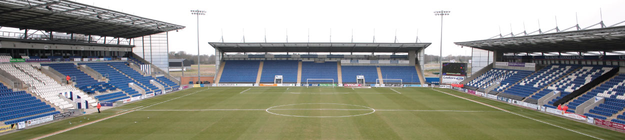 JobServe Community Stadium where Colchester United play football in the