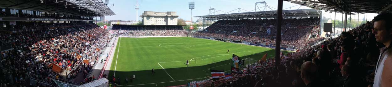 stadium where FC St. Pauli play football in the