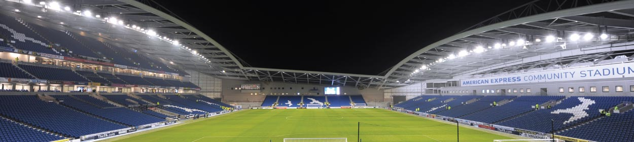Amex Stadium where Brighton and Hove Albion play football in the Premier League