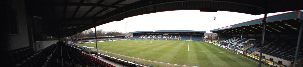Crown Oil Arena stadium where Rochdale play football in the League One