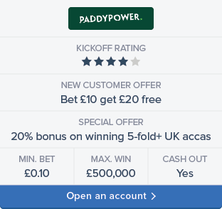Paddy Power sign up now