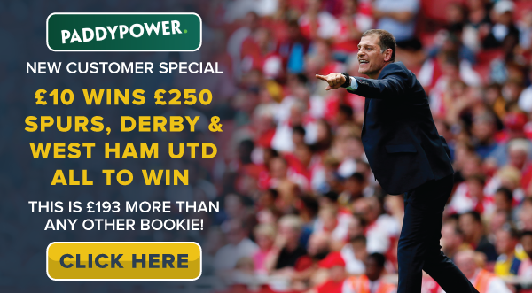 Blog-Betting-Offer-Paddy-Power-2-SAT-TREBLE-SPURS-DERBY-WEST-HAM