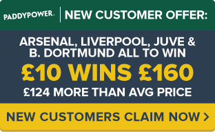 PaddyPower-Offer-ARSENAL,-LIVERPOOL,-JUVE,-DORTMUND