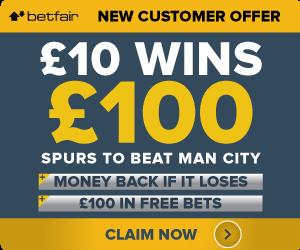BetFair-Offer Spurs to beat Man City