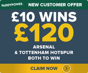 PaddyPower-Offer-arsenal-and-spurs-to-win