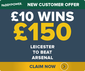 PaddyPower-Offer Leicester to beat Arsenal