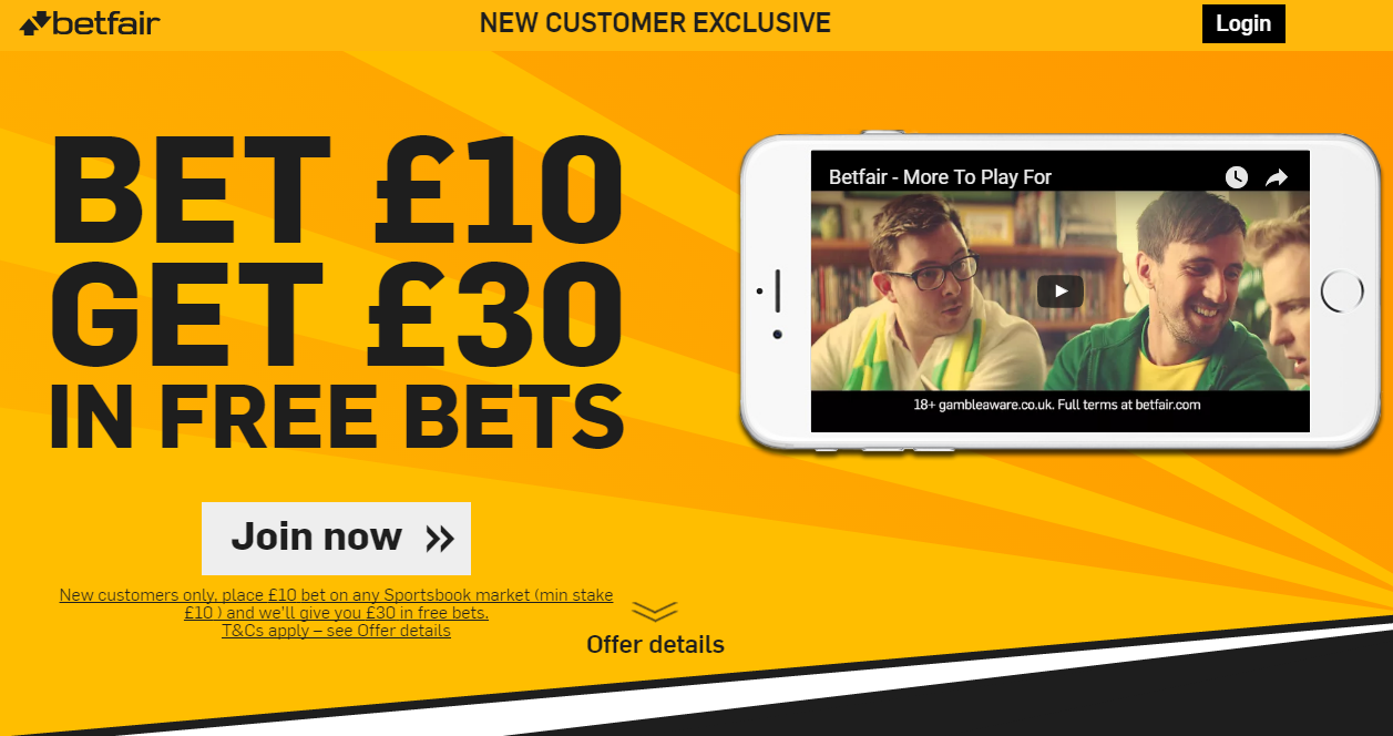 Betfair Sportsbook New Customer Offer
