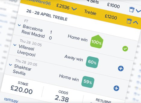 Copy football tipsters screenshot