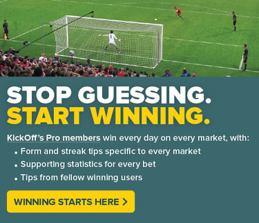 Football goal as a penalty is taken, stop guessing, start winning, winning starts here