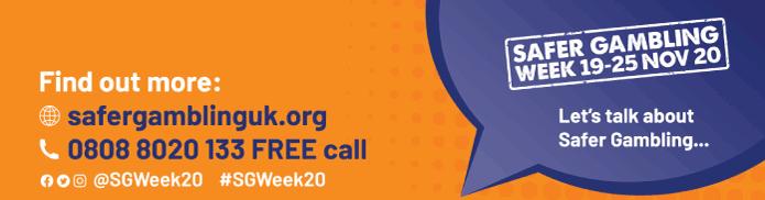 Safer Gambling Week 2020 advert